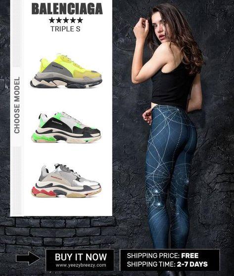 Balenciaga triple S Sneakers Herren 7320 Yellow Grey