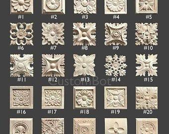 1 Piece Shabby Chic Wood Embellishments Ornate Furniture Apliques Wood Onlay Furniture Trim Supplies WA042