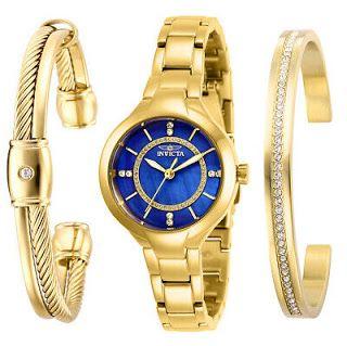 عائلة فكر تاني Fikrtanys ساعة Angel Blue Mother Of Pearl Dial Bulova Watches Women Stainless Steel Bracelet Gold Tones