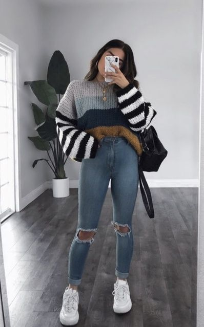 Trendy Fall Outfits, Casual School Outfits, Winter Fashion Outfits, Look Fashion, Stylish Outfits, College Girl Outfits, Winter School Outfits, School Appropriate Outfits, Fashion Women