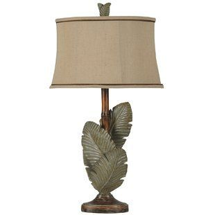Palm Tree Lamps With Images Tropical Table Lamps Grey Table