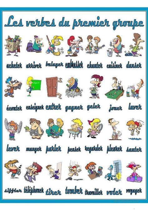 100 Idees De Verbe Verbe Verbes Francais Enseignement Du Francais