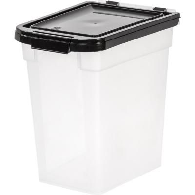 Iris 12 Qt Airtight Pet Food Storage Bin In Clear Pet Food Container Pet Food Storage Dog Food Storage