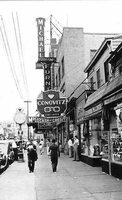 1936 Main Street Looking South 37th Avenue In Flushing Vintage New York Main Street Street Look