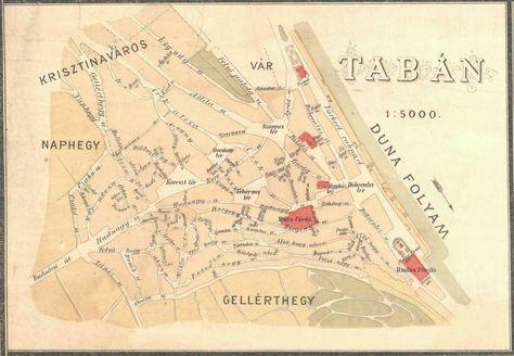 1887 Taban Terkep 1 Kerulet Terkep Budapest Regi Terkepek