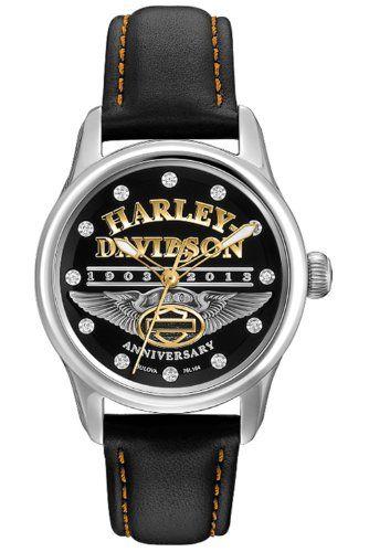 786d0d00d92b Harley Davidson Flower Power 78L119 Reloj para Dama Color Negro ...