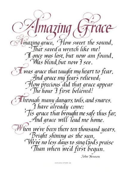 Amazing Grace | Gods grace | Amazing grace, Christian songs, Gods grace