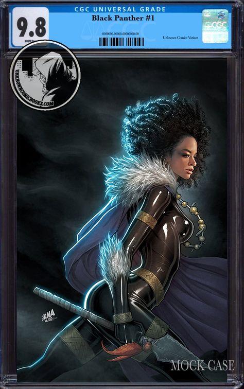 BLACK PANTHER #1 UNKNOWN COMICS DAVID NAKAYAMA EXCLUSIVE VIRGIN VAR CGC 9.8 BLUE LABEL (02/23/2022)