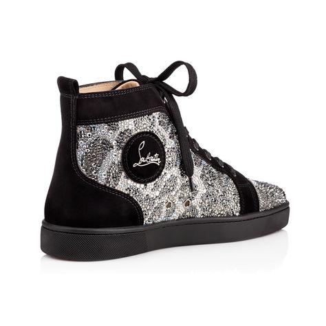 Men Shoes Louis Strass Leopard Flat Veau Velours