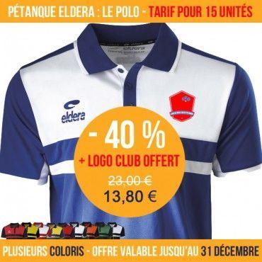 2019 authentique profiter de prix discount hot-vente authentique Polo Allure - Offre Club pétanque Eldera   Boutique   Club ...