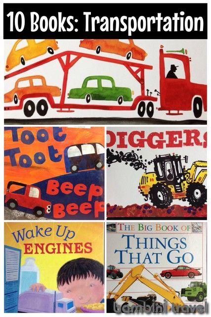 10 Books: Transportation   Bambini Travel