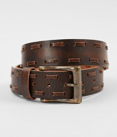 Circle G by Corral Whipstitch Leather Belt | Cinturón de