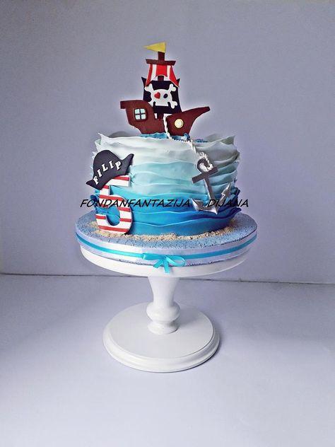 2nd Birthday Cake Boy, Harry Birthday, Joint Birthday Parties, Themed Birthday Cakes, Birthday Fun, Themed Cakes, Birthday Ideas, Pirate Ship Cakes, Beautiful Birthday Cakes