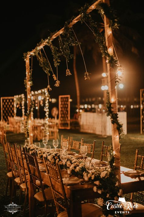 Having an intimate wedding in Goa? Get in touch with us and we'll assist you with everything.🥰 #ASHUGOESNATS Decor & Design: @castlerockevents Wedding Planner: @castlerockevents #wedding #weddingtheme #weddingideas  #weddingdecor #weddingdecoration #themewedding #themedecor #destinationwedding #nightwedding #weddingreception #weddingreceptiondecor #weddinglights #weddinglighting #tablestyling #tabledecor #weddingtable #weddingdinner #dinnertable