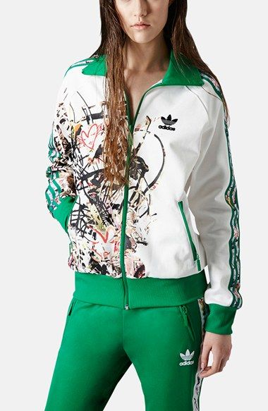 Topshop x adidas Originals Tracksuit Top available at #Nordstrom