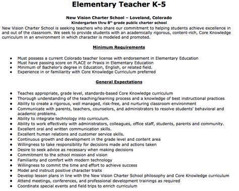 Elementary Teacher Job Description Elementary Teacher K-5 New - purchasing assistant job description