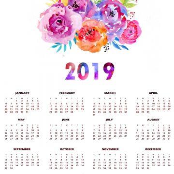 Calendario Rosa Png.2019 的 Calendario 2019 Calendario 2019 2019 Flores