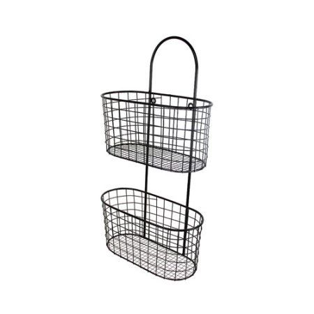Gracie Oaks Nagy Wall Hanging Storage Basket Walmart Com Storage Baskets Hanging Storage Wall Hanging Storage
