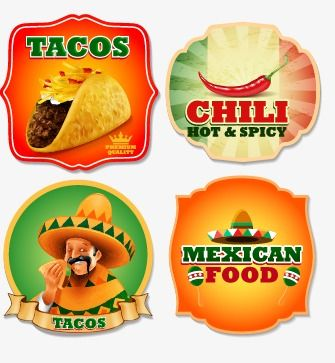 Vector Mexican Food Labels Food Vector Food Clipart Mexican Food Png Transparent Clipart Image And Psd File For Free Download Food Mexican Food Recipes Spicy Food Mexican