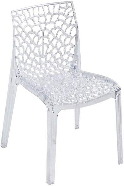 Chaise En Polycarbonate Transparente Ajouree Crocy Chaise Plastique Chaise Design Chaise