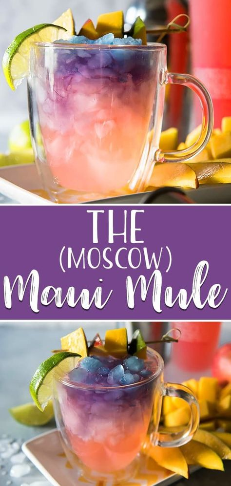 The Maui Mule puts a tropical twist on the classic cocktail! Trade out your typical vodka for something a little more pink, and your drink will be as gorgeous as a Hawaiian sunset! Drinks The Maui Moscow Mule Cointreau Cocktail, Cocktail Drinks, Summer Cocktails, Cocktail Shaker Recipes, Mix Drinks, Vodka Cocktails, Best Summer Drinks, Best Bar Drinks, Fun Summer Drinks Alcohol