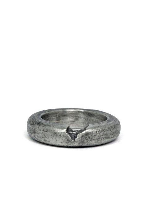 cf74fad04b Shop Emerging Slow Fashion Avant-garde Jewellery Brand Gothmos Oxidised  Silver Chilbo Cell Shield Ring at Erebus #brandedjewellery   Branded  Jewellery ...