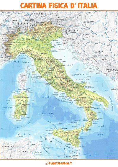 Italia Cartina Regione.Cartina Muta Fisica E Politica Dell Italia Da Stampare