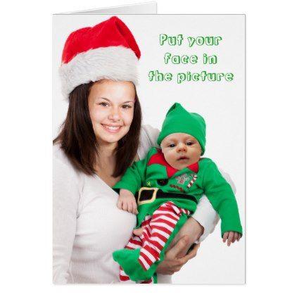Personalized Christmas Cards.Personalized Xmas Passport Photo Holiday Card Zazzle Com