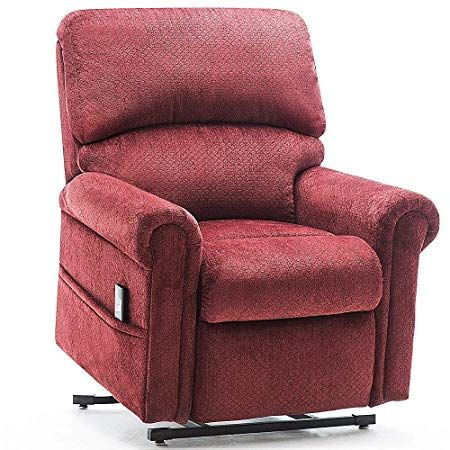 Power Lift Chair For Elderly Reclining Chair Sofa Electric Recliner Chairs With Remote Control Soft Fabric Lounge Red Trong 2020