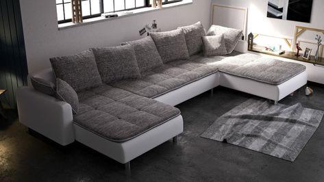 Eckcouch u form  Couchgarnitur Couch Ecksofa Sofagarnitur Sofa U Form VOLCANO NEU ...