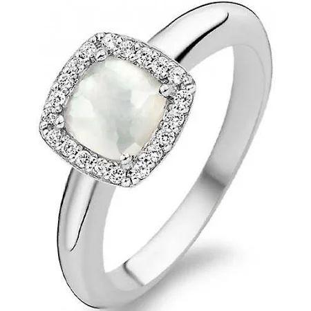 Ring Damenring mit 3 Süßwasser Zuchtperlen /& Zirkonia 925 Silber Perlenring