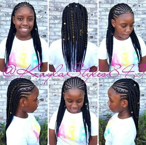 Cornrows Box Braids For Kids Kids Box Braids Braids For Kids Cornrows With Box Braids
