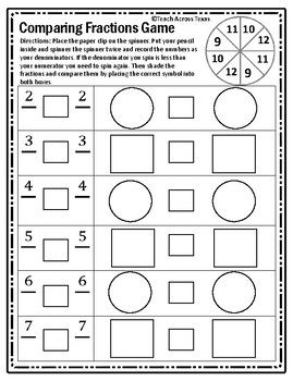 Numerator Math Fractions Worksheets Fractions