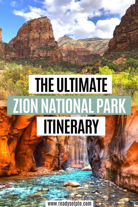Zion National Park Discover The Ultimate Zion National Park Itinerary Check out my Zion National Park itinerary to help you plan your weekend adventure and learn more about the best hikes in Zion! Zion Park, Zion Utah, Narrows Zion National Park, Zion National Park Hotels, Us National Parks List, Zion Narrows Hike, Zion Hikes, Utah Vacation, Las Vegas Vacation
