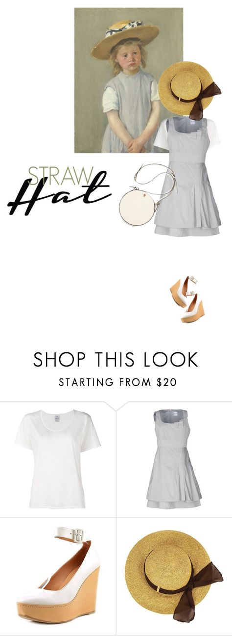 """Straw Hat"" by sharmarie ❤ liked on Polyvore featuring Visvim, RED Valentino and Robert Clergerie"