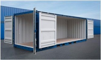 Image Result For 40 Foot Shipping Container With Side Doors Container House Prefab Shipping Container Homes Industrial House Exterior