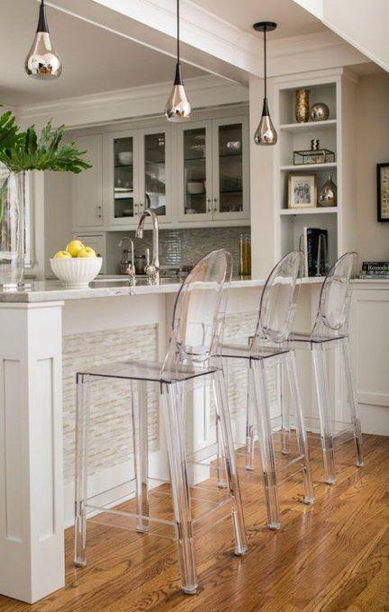 20 Ideas Kitchen Modern Apartment Bar Stools For 2019 Acrylic Bar Stools Bar Stools Kitchen Island Kitchen Bar Counter