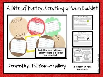 This is a fun project that provides student activity sheets and all the booklet essentials for students to create delicious poetry burgers! ($)