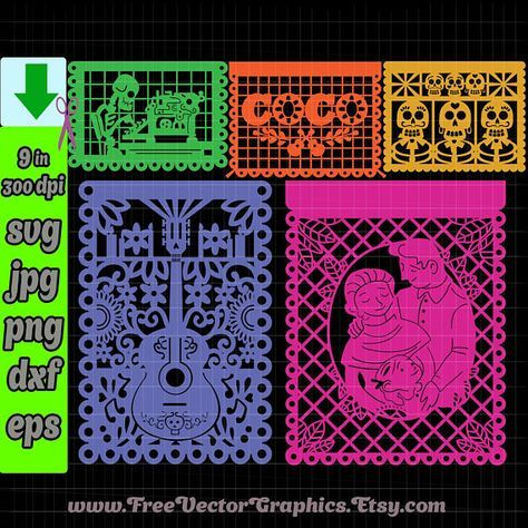 Coco Disney Svg Files 2018 Cricut Designs Dia De Los Muertos