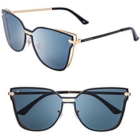 "1b0ae74aa61 PRIVÉ REVAUX ""The Madam"" Handcrafted Designer Cat-Eye Sunglasses For Women  (Black)"