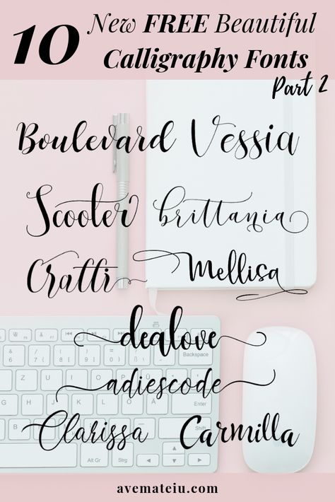10 New FREE Beautiful Calligraphy Fonts ndash Part 2 - Letter Tattoos Calligraphy Fonts Alphabet, Handwriting Fonts, Typography Fonts, Calligraphy Doodles, Font Alphabet, Graffiti Alphabet, Islamic Calligraphy, Cute Fonts, Fancy Fonts