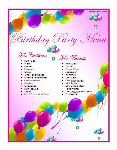 Free Birthday Card Template Word New Birthday Menu Template Microsoft Word Tem Birthday Card Template Birthday Card Template Free Birthday Invitation Templates