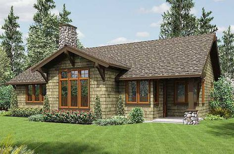 Wilburton Craftsman Ranch Home Plan 055D-0860 | House Plans and More