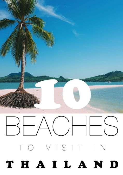 10 Beautiful Beaches You Have To Visit In Thailand - Hand Luggage Only - Travel, Food & Home Blog http://fancytemplestore.com