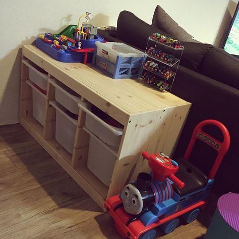 638d51a190 Overview ikea おもちゃ箱 トミカ おもちゃ収納 こども部屋 などのインテリア実例 jpg 474x474 収納