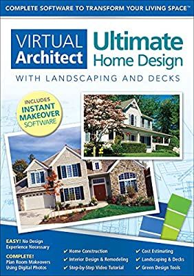 Amazon Com Virtual Architect Ultimate Home Design With Landscaping And Decks 9 0 Download Software House Design Architect Design