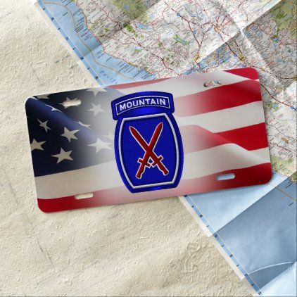 10th Mountain Division Customized Patch License Plate In 2020 License Plate 10th Mountain Division Gifts For Father