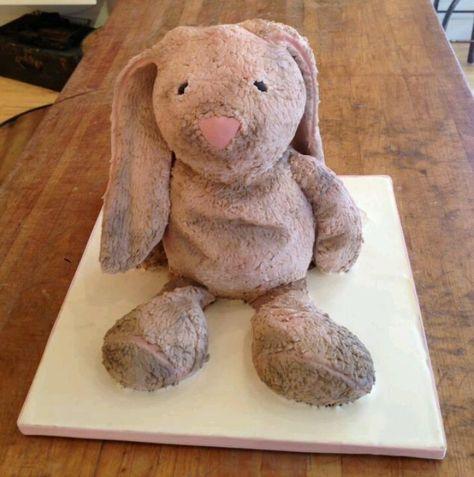 Stuffed Animal Bunny Cake by Bobbette & Belle