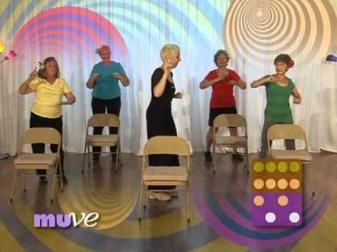 Senior Dance Exercise Behind A Chair Beginner Dance Exercise Dvd For Older Adults And Elderly Senior Fitness Dance Workout Flexibility Workout
