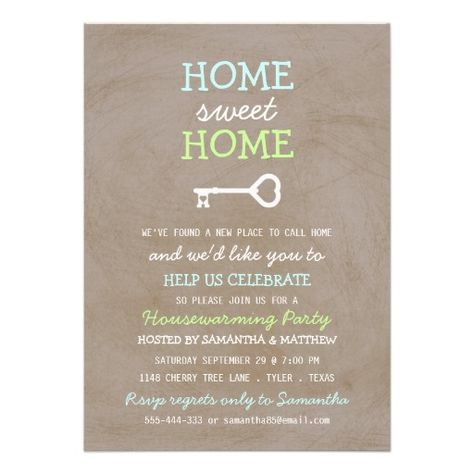 Cute Chalkboard New Home Housewarming Invitations  Zazzle Party